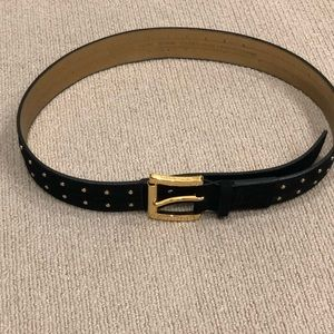 ✨Michael Kors✨SIZE Medium Black/Gold Studded Belt✨